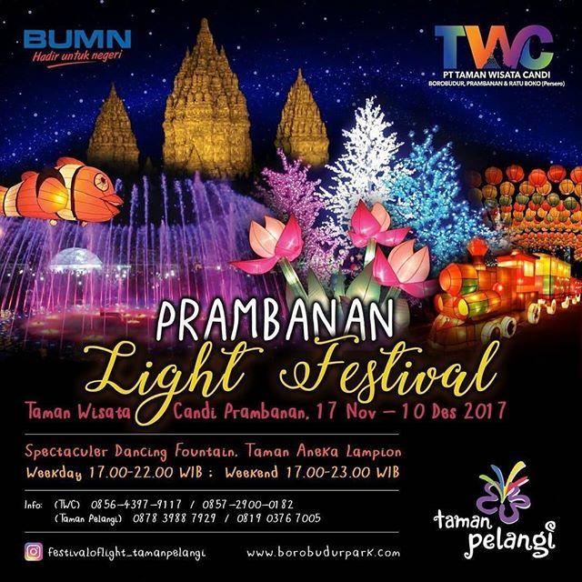 prambanan light festival 2017